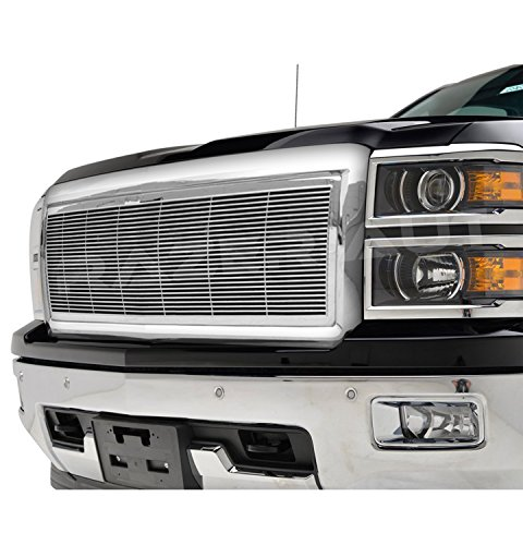 2014-2015 Chevy Silverado 1500 Chrome Billet Grille Complete Factory Replacement Grille Shell