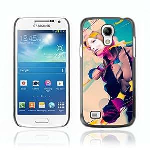 CQ Tech Phone Accessory: Carcasa Trasera Rigida Aluminio PARA Samsung Galaxy S4 Mini i9190 - Cool Abstract Art Composition Girl