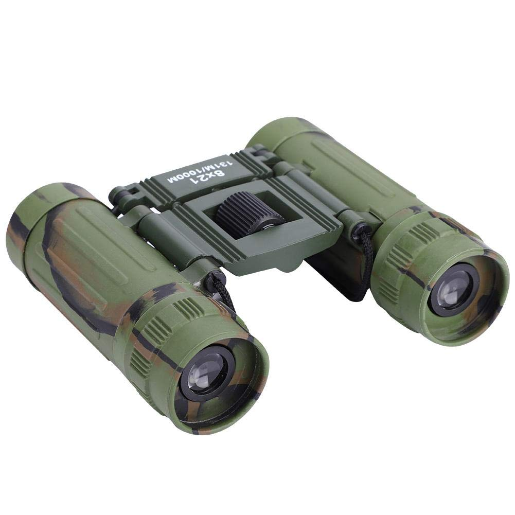 Alomejor 8x21 Binocular High-Definition Portable High Times Telescope with Multi-Layer Coated Lens for Outdoor Sport