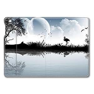 Brain114 iPad Mini Case - Fashion Design Leather iPad Mini Stand Case Cover Flamingo In White And Black Leather Folding Case Cover for iPad Air Mini