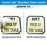 Absorbent Stone Drink Coasters - Set with a Holder