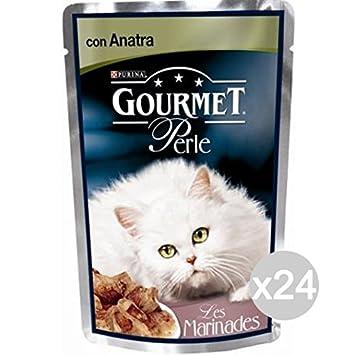 Purina Juego 24 Gourmet Perle Duetto vitel-anatr Sobre GR85 Comida para Gatos: Amazon.es: Productos para mascotas