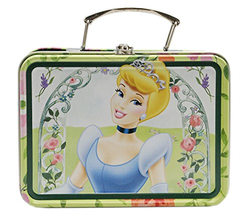 Disney Princess Cinderella Green Floral Arrangement Mini Tin Storage Box