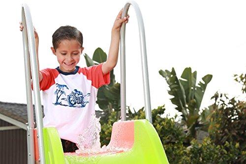 SLIDEWHIZZER Outdoor Play Set Kids Slide: 10 ft Freestanding Climber, Swingsets, Playground Jungle Gyms Kids Love – Above Ground Pool Slide for Summer Backyard by SLIDEWHIZZER (Image #1)