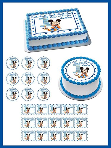 Remarkable Mickey Mouse Cake Toppers Shop Mickey Mouse Cake Toppers Online Personalised Birthday Cards Veneteletsinfo