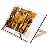 Wooden Frame Reading Bookshelf Bracket - Book Reading Bracket Tablet PC Support Music Stand (Burlywood)