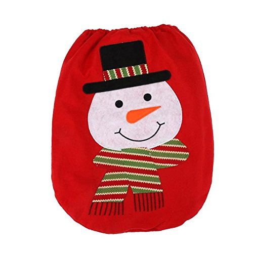 Bathroom Set - Christmas Snowman Elk Bathroom Set Non Woven Toilet Seat Cover Lid Xmas Decoration - Kawaii Nickel Hot Japanese Dot Holiday Royal The Aqua Rug