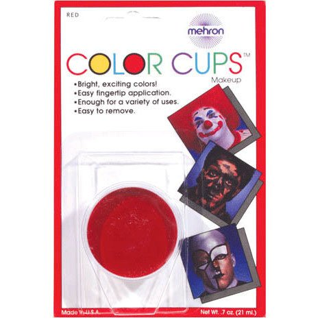 Loftus International Color Cup Carded Clown Make Up, Red