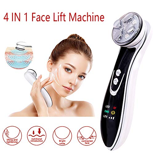 Face Lift Machine 4-in 1 Skin Tightening Device for Facial Lifting 5 Colors Lights for Face EMS Massager Wrinkle Remove Skin Care Vibration Beauty Instrument
