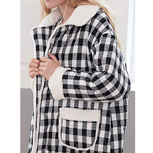 Xl Botón Loungewear Para Tamaño Lujo Gray Gray De Mujer Sleepwear Albornoces Cálida color Bata Señoras qO1fzI