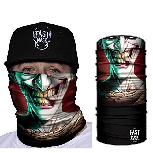Fast Mask Tubular Bandanas With Face Shielding Protection Unisex - The Joker (Bandana Joker)