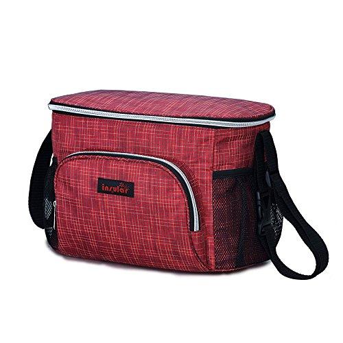 3en 1con aislamiento momia pañal bolsa bebé para cambio de pañales bolsa organizador para carrito de bebé para cochecito de bebé negro negro rosso