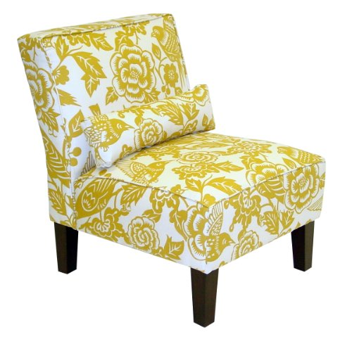 Skyline Furniture Slipper Armless Chair in Canary Maize by Skyline Furniture