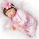 Yesteria Real Looking Sleeping Reborn Baby Dolls Girl Silicone Vinyl Pink Rabbit Outfit 22 Inches