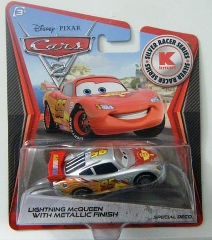 (Disney Pixar Cars 2 - Kmart Silver Racer Series - Lightning Mcqueen With Silver Metalic Finish. Limited Edition Usa Only Release)