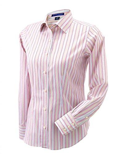 Devon & Jones Women's Savile Patterned Dress Shirt Devon And Jones Cotton Dress Shirt