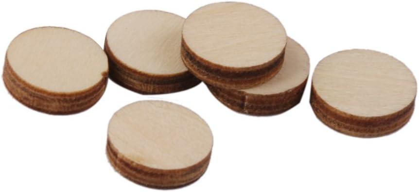 50pcs 50mm FLAMEER 20-200 St/ück rund Holzscheiben Holz Scheiben Verzierungen Holz St/ücke f/ür DIY Handwerk Dekorieren Scrapbooking