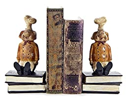 Chef Pig Bookends, Cook Cooking Kitchen Pig Book Ends