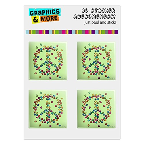 Graphics and More Lady Bug Rainbow Peace Sign Computer Case Modding Badge Emblem Resin-Topped 1