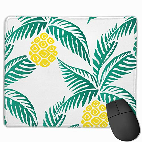 Pineapple Palm Tree-01.png Quality Comfortable Game Base Mouse Pad with Stitched Edges Size 11.81 9.84 -