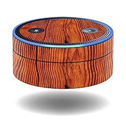 MightySkins Protective Vinyl Skin Decal for Amazon Echo Dot (1st Generation) wrap cover sticker skins Knotty Wood