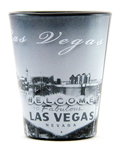 Las Vegas Nevada Black B & W Shot Glass ctm