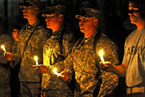 U.S. Army soldiers hold candles in memory of 9/11 victims during a vigil on Camp Phoenix, Afghanista  candles 9/11 | 9/11: Candlelight vigil 51 2Bu9xU5SOL