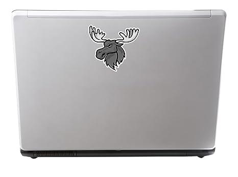 2 x Angry Moose Vinyl Sticker Laptop Travel Luggage #4302