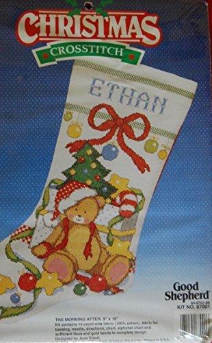 - The Morning After - Good Shepherd Cross Stitch Christmas Stocking Kit 87001