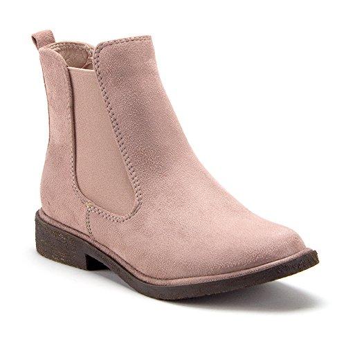Women's Tempt-1 Ankle High Suede Chelsea Fashion Boots, Mauve, 7 (Pink Chelsea)