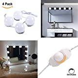 S&G Hollywood Super Star Style LED Vanity Makeup Mirror Lights Kit with Dimmable Light Bulbs for Dressing Table with Dimmer UL-Listed Power Supply, Linkable and Flexible Strip, Mirror Not Incl