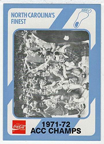 The 1971-72 ACC Champs (Basketball Card) 1989-90 North Carolina Collegiate Collection Coca-Cola North Carolina