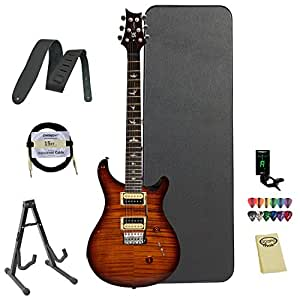 PRS Exclusive Limited Edition Custom SE 24 Electric Guitar, Tobacco Sunburst w/ ChromaCast Hard Case and accessories
