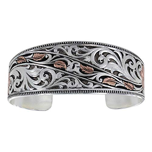 Montana Silversmiths Winding Leaves in Fall Cuff Bracelet, 1