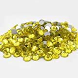 280 pcs Rhinestone Crystal Glass A Flatback Round Gems Embellishments FUTQ0 Lemon Yellow Tartrazine