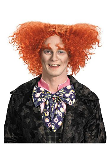 Disguise Men's Mad Hatter Costume Wig,Multi,One Size- Adult -