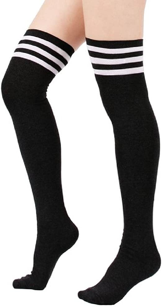 2019 WInter Women Long Wool Stockingss Knee High Girls Flower Print Leg Socks TS