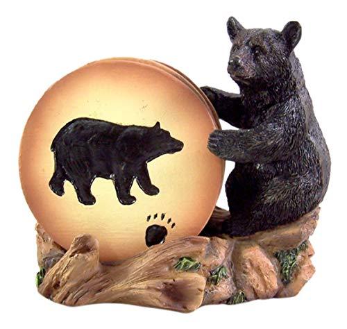 Bear Coaster Holder with 4 Coaster Set 4 1/2 Inch