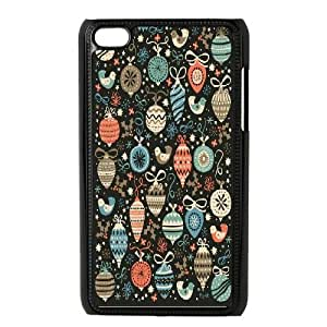 Ipod Touch 4 Cases Happy Christmas, Ipod Touch 4 Cases Christmas, [Black]