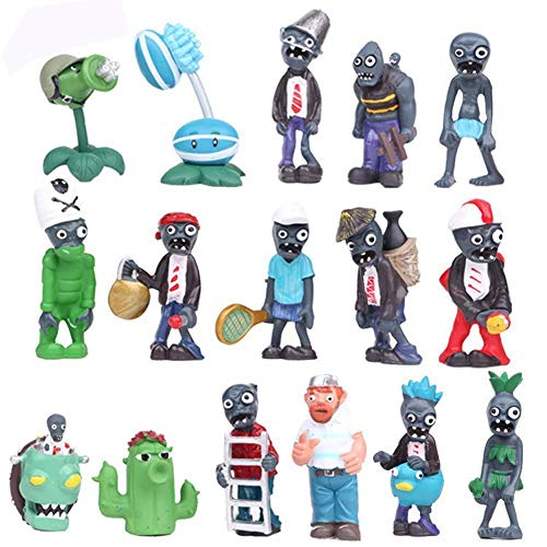 (BIGOCT 16 X Plants Vs Zombies Toys Series Game Role Figure Display Toy)