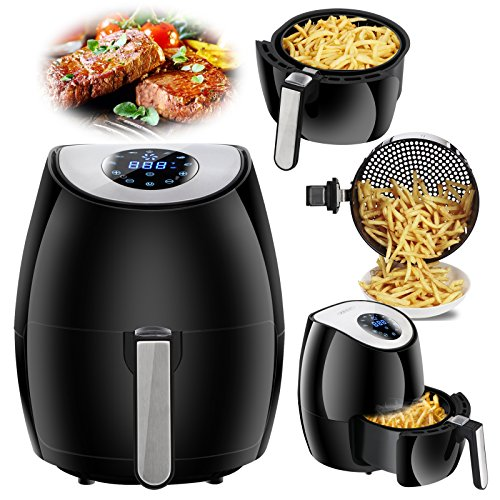 Zenchef NEWEST Air Fryer 2.7QT Touch Screen Control w/ 7 Cooking Presets, Recipe Cookbook Included