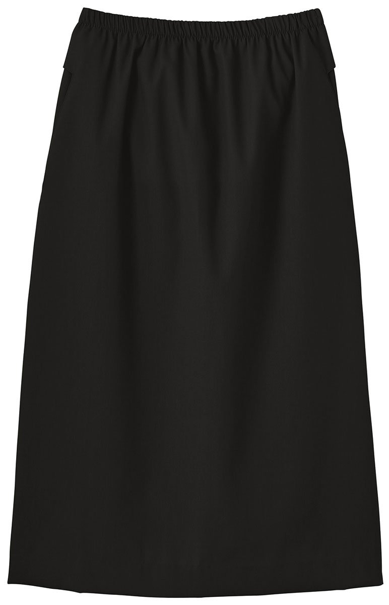 Trust Your Journey Fundamentals by White Swan Women's Elastic Waist Solid Scrub Skirt Medium Black