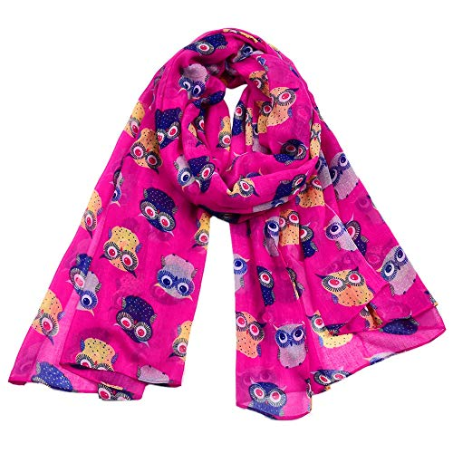 Woogwin Women's Cotton Scarves Lady Light Soft Fashion Solid Scarf Wrap Shawl (One Size, Z-AnimalRose)