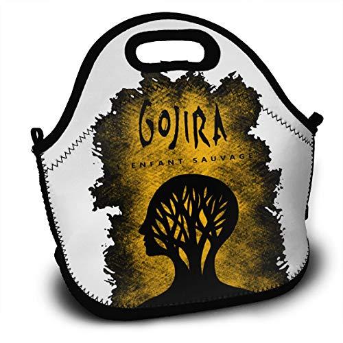 Gojira L'enfant Sauvage Lunchbox,Jocasa Waterproof Reusable Tinfoil Large Lunch Bag For Kids/Boys/Girls/Men/Women Black