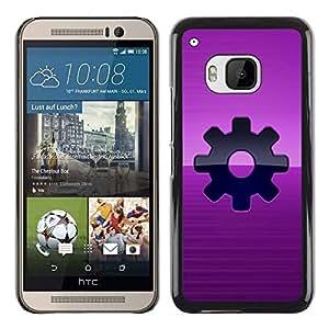LECELL -- Funda protectora / Cubierta / Piel For HTC One M9 -- Purple Sprocket Steam Punk --