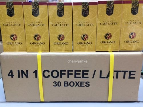 30 Boxes Organo Gold Gourmet Cafe Latte with Ganoderma Lucidum Extract + Free Express by Organo Gold