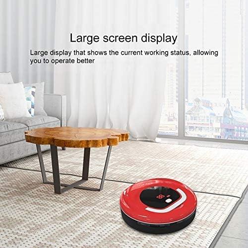 Sghjfj Aspirateur Intelligent Aspirateur Intelligent, poussière Catcher Intelligent Auto-Induction Sol Balayer Aspirateur Robot, Pet Hair Hard Floor Tapis (Couleur : Red) Red