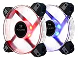 InWin Polaris RGB Twin Fan Kit Two RGB LED 120mm High Performance Silent Cooling Computer Case Fan with Anti-Vibration Mounting Cooling Clear