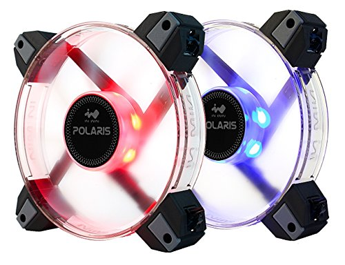 - InWin Polaris RGB Twin Fan Kit Two RGB LED 120mm High Performance Silent Cooling Computer Case Fan with Anti-Vibration Mounting Cooling Clear