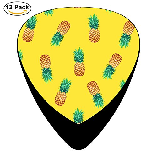 Pimalico Classic Pineapple Design Picks (12 Pack, ) for Electric Guitar, Acoustic Guitar, Mandolin, and Bass / Black - Ihi Parts